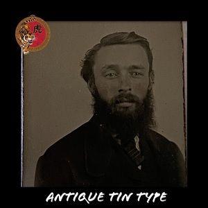 Antique Tin Type Photo Handsome Man 19th Century